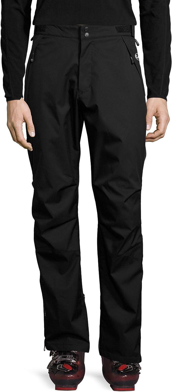 Ultrasport Advanced Chris Pantalones de esquí de fondo , sobrepantalón funcional ligero, impermeable, resistente al viento, transpirable, cremallera de doble sentido para poner/quita