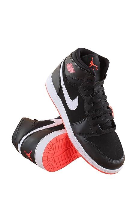 new concept 9708a 9de2c Jordan Nike AIR 1 Retro High Gg Black hotlava 332148-028 (Size  3.5y)   Jordan  Amazon.ca  Shoes   Handbags