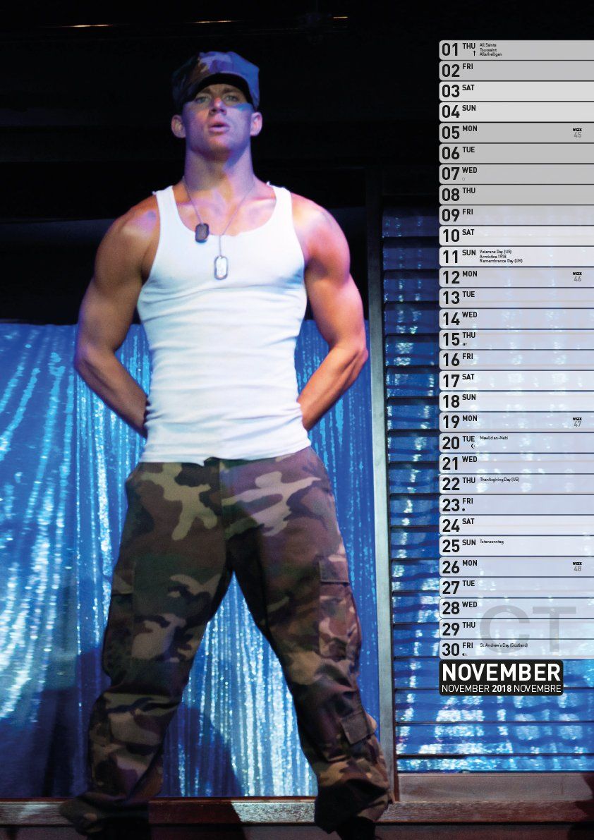 Channing Tatum 2018 Calendar : Tatum, Channing: Amazon.es: Libros