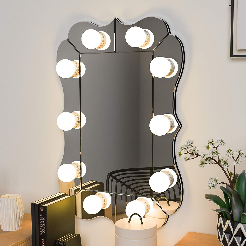 Spiegel Beleuchtung Mit Dimmbar Led Spiegelleuchte Hollywood Stil