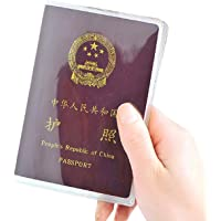 Malloom®claro transparente viajar pasaporte funda cubierta gestión tarjeta