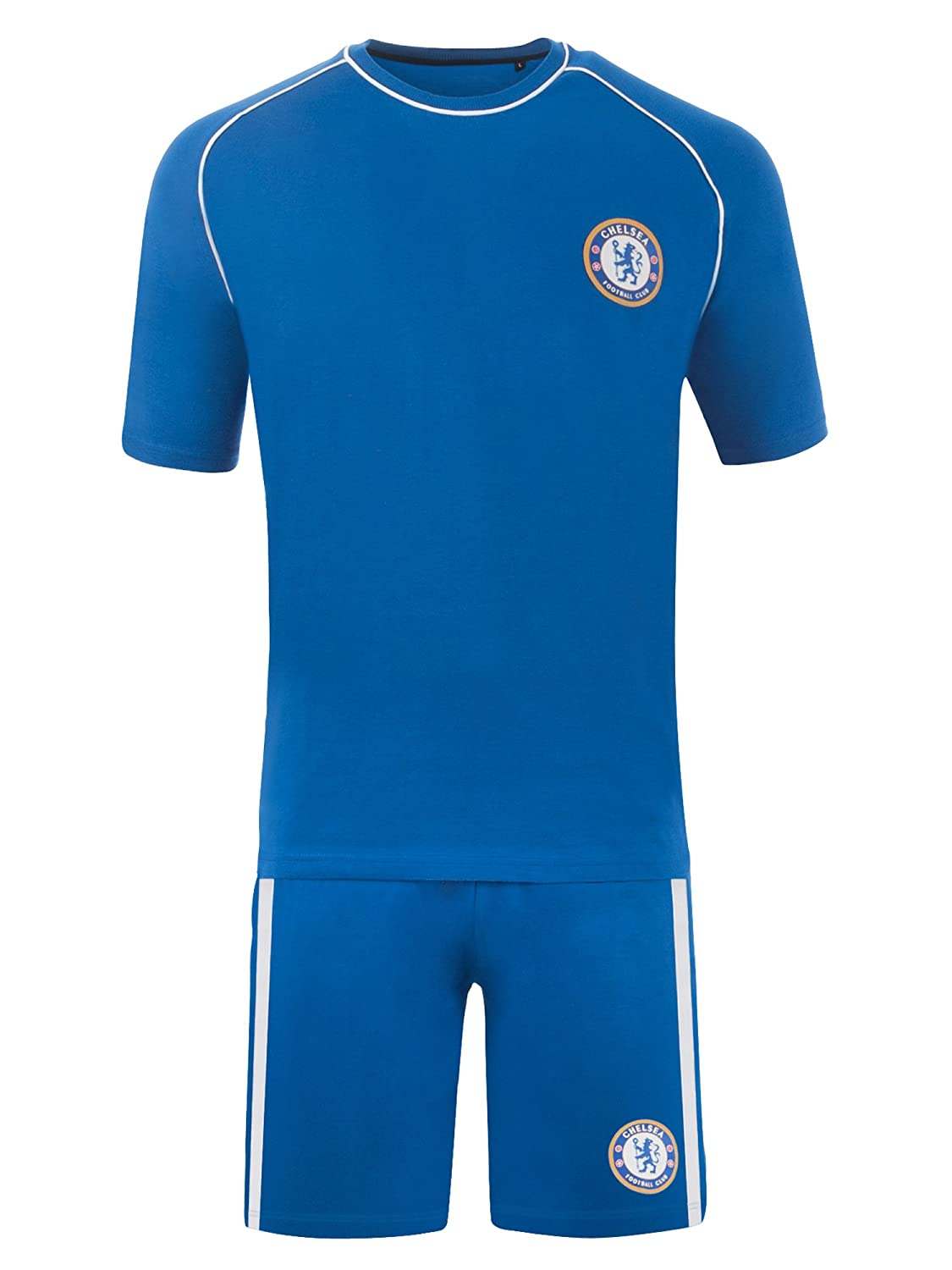 Chelsea Pyjamas Mens Official Short Football PJ Set Gift Sizes Small To XXL