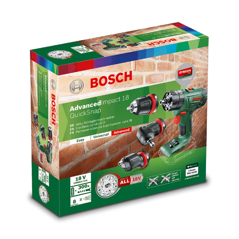 Bosch 06039A3402 AdvancedImpact 18 Perceuse /à percussion Vert