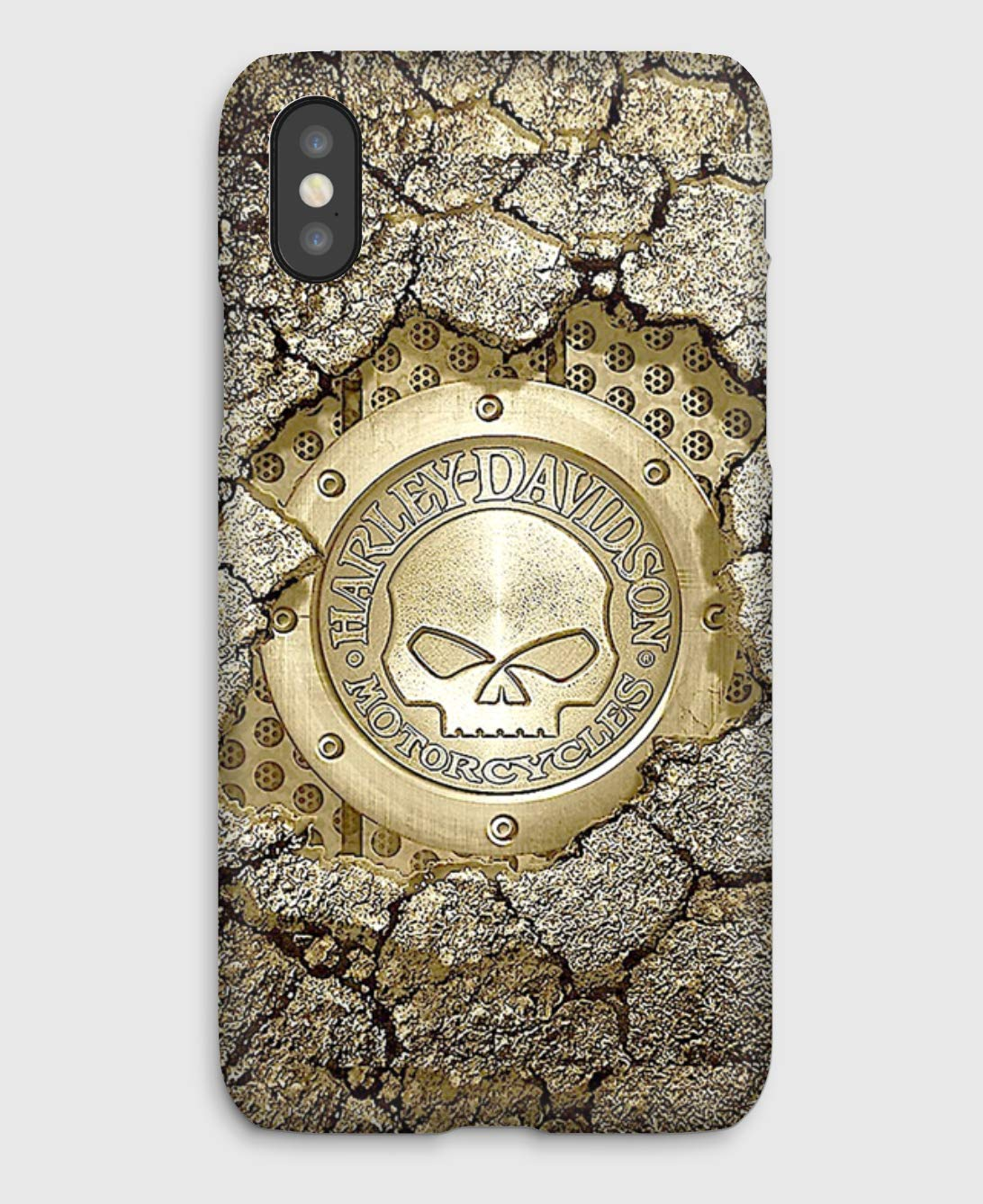 iPhone cas 4, 4S, 5, 5SE, 5S, 5C, 6, 6S, 6S + 6+, 7, 7+, 8, 8+, iPhone X, Harley Davidson in a wall