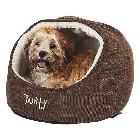Bunty - Cama tipo cueva para gatos, cachorros y perros (mascotas, casa,