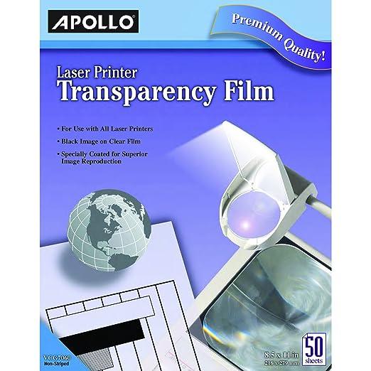 Amazon.com : Apollo Laser Jet Printer and Copier Transparency Film ...