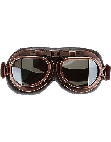 4c145bfa4a Helmet Steampunk Vintage Accessories Goggles Sunglasses Eyewear for Outdoor  Sports Motocross Racer - Silver Len