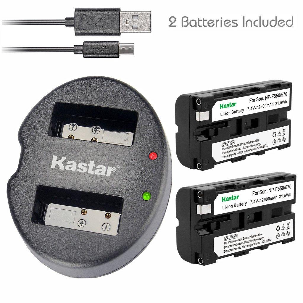 Kastar Battery (X2) & Dual USB Charger for Sony NP-F570 NP-F550 NP-F330 and CCD-RV100 RV200 SC5 SC9 TR1 TR215 TR940 TR917 Camera, CN-126 CN-160 CN-216 CN-304 VL600 YN 300 LED Video Light