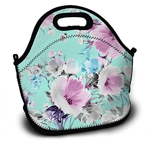 b718633da3ce Print Floral Print - Watercolor Flowers Backpack Lunch Bag Reusable  Insulated Waterproof School Picnic Carrying Gourmet