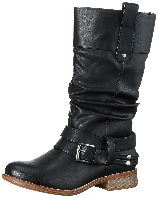 Negro (negro) Rieker 95678, botas para mujer