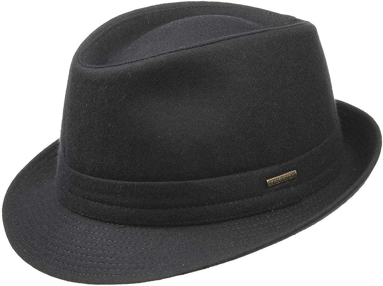 Stetson Benavides Trilby Sombrero Mujer/Hombre - Sombrero de Fieltro de Lana - Fabricado en Italia - Sombrero de Hombre Invierno con Revestimiento de teflón - Otoño/Invierno