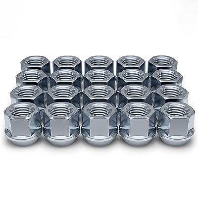 White Knight Wheel Accessories 1309-1S Zinc M14 x 1.50 Open End Bulge Acorn Lug Nut 20 Pack: Automotive