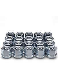 White Knight 1304-1S-20AM 1/2-Inch-20 Thread Size Open End Bulge Acorn Lug Nut, Zinc, 20-Pack