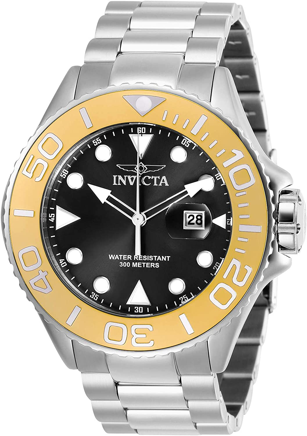 Invicta Men s Pro Diver Quartz Diving Watch with Stainless-Steel Strap, Silver, 24 Model 28767