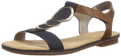 begrenzte garantie populärer Stil offizieller Shop Rieker 64278 Women Open Toe, Damen Sandalen