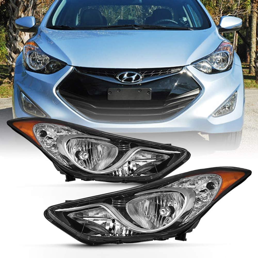 Pair Left /& Right Headlight Lens Headlamp Cover for 2011-2014 Hyundai Sonata
