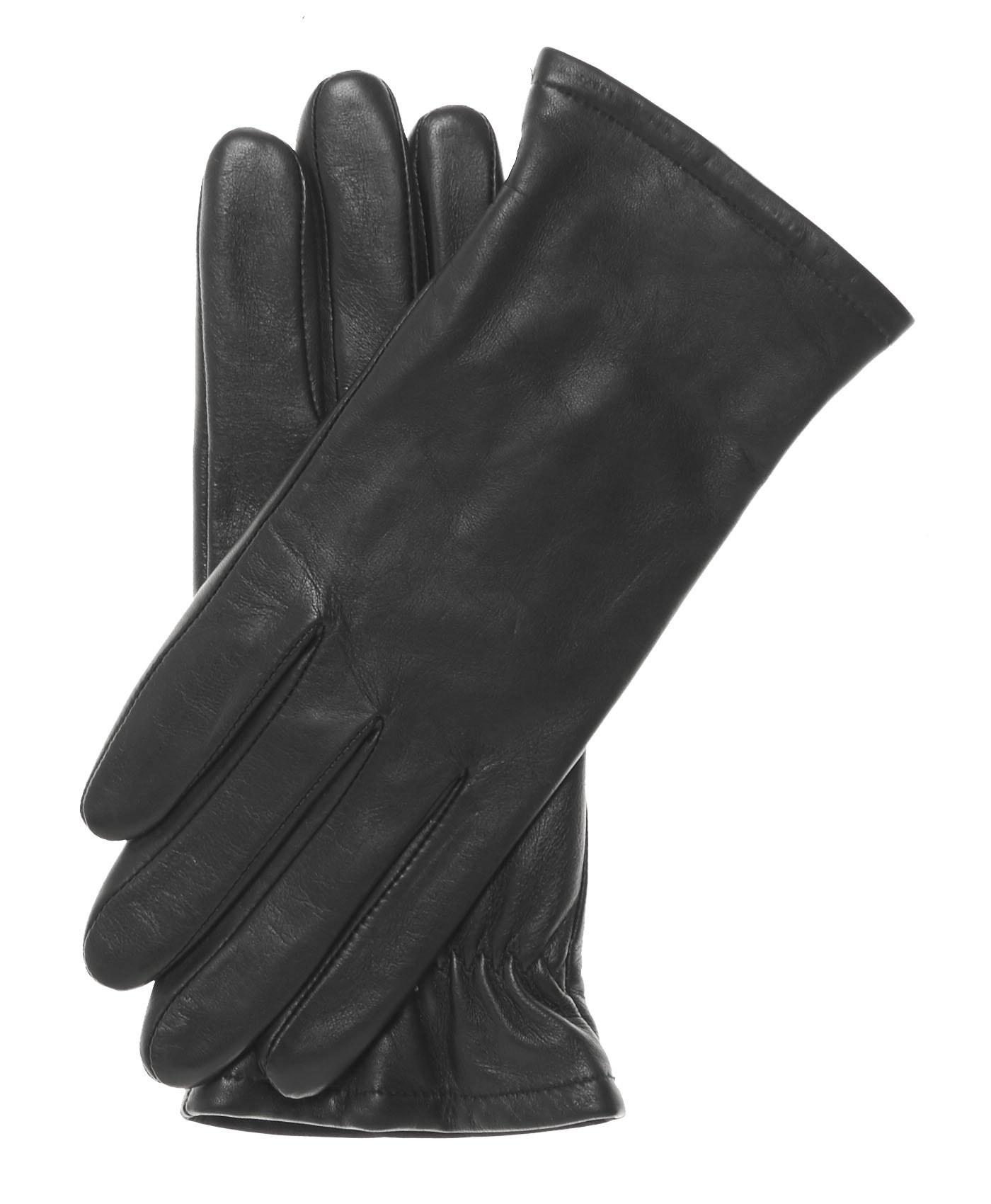 Pratt and Hart Women's Classic Thinsulate Lined Leather Gloves Size 8 1/2 Color Black