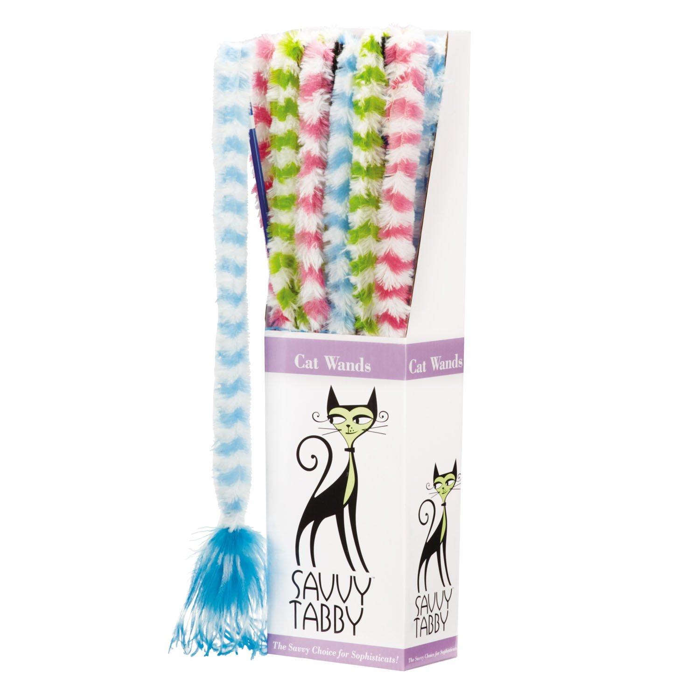 SAVVY Tabby 12Furry Zauberstab, Display für Haustiere
