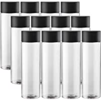 Got Dragon 12-Pack Bulk Empty Plastic Juice Bottles Reusable Water Bottles to work great as Sensory Bottles and Smoothie Bottles with Black Lids Great for Sensory Crafts and Calming Bottles 400ml