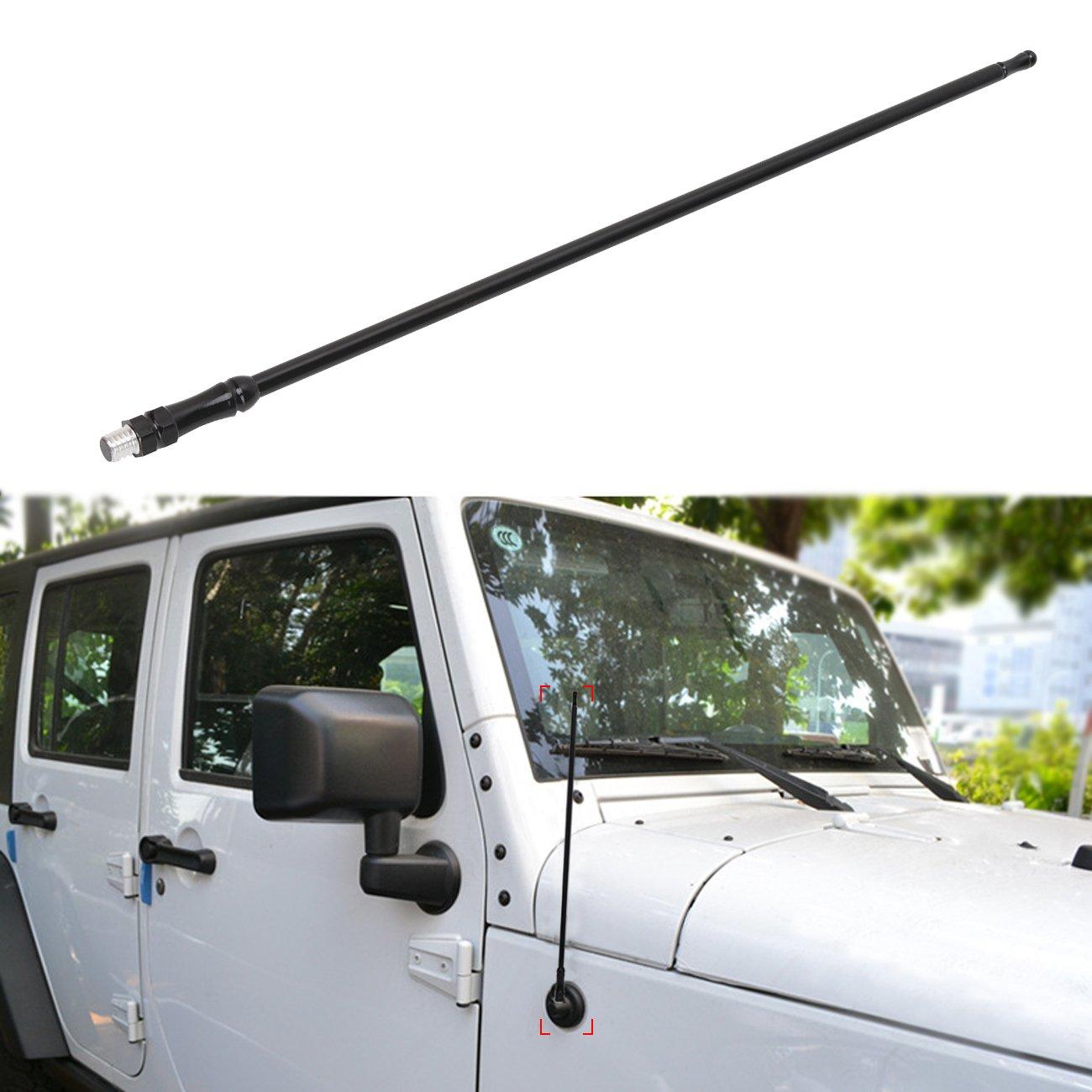 "Black 13/"" Antenna For Jeep Wrangler JK Unlimited  Rubicon Sahara Willys 2//4 Door"