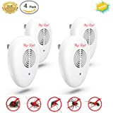 NEW 2018 Ultrasonic Pest Repellent (4-Pack)[UPGRADED] Electronic & Ultrasound Control in Effective Expulsion Control Mosquito, Roach, Mice, Spider, Ant, Rodent,Bedbugs