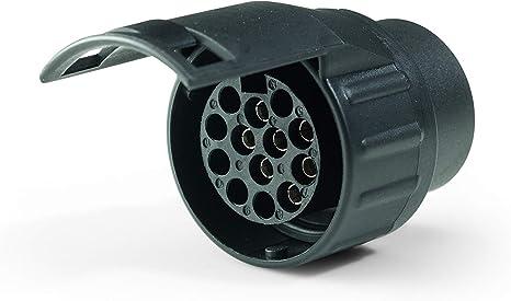 Materiale Adattatore Presa Rimorchio Connettore 7-Pin Rimorchio Spina Affidabile per Rimorchio per Semirimorchio