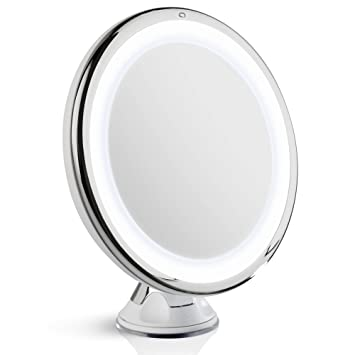 Fancii LED Lighted 8X Magnifying Makeup Mirror   Color Corrected  Dimmable  Natural White Light. Amazon com  Fancii LED Lighted 8X Magnifying Makeup Mirror   Color