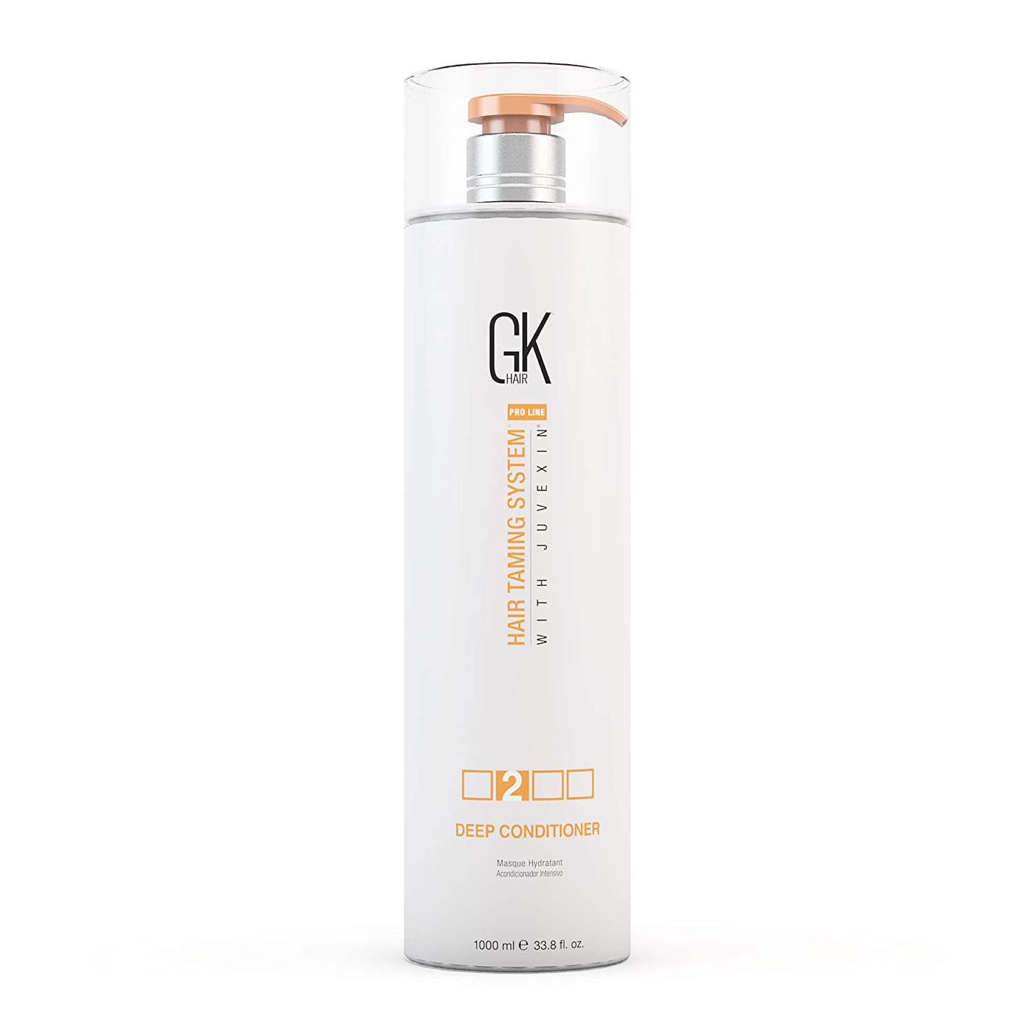 Global Keratin GKhair Deep Conditioner Hair Treatment (200g/7.5fl.oz) For Damaged, Blonde, Bleached, Curly and All Hair Types | With Natural JOJOBA Oil