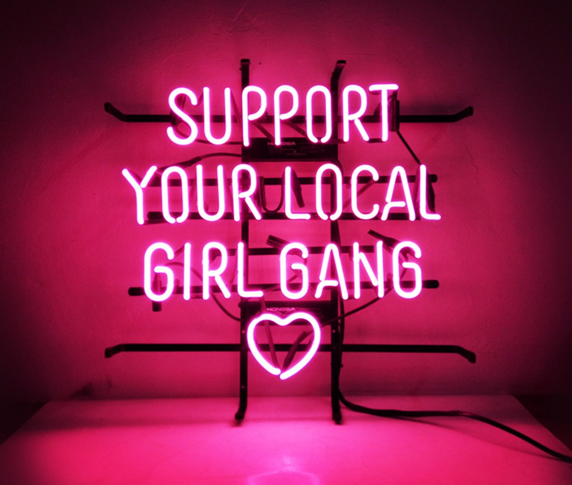 New Custom Neon Sign Pink Room Decor 'Support Your Local Girl Bang' for Bedroom Bar Beer Pub Home Hotel Beach Bar Garage Cocktail Recreational Game Room 18'' x 16''