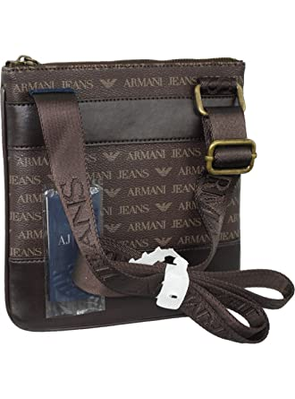 Armani Jeans Brown PU Side Bag 06205 J4 One Size  Amazon.co.uk  Clothing 780312ec498f9