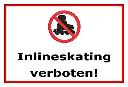 Cartel prohibido - Inline kating - 15 x 20 cm, 30 x 20 cm y ...
