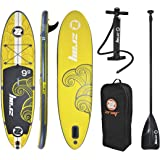 "ZRAY X1 - ALL AROUND Inflatable Stand-Up Paddle Board 9'9"" iSUP Package - Pump/Paddle/Fin/Backpack Included, 6x30x117-inches"
