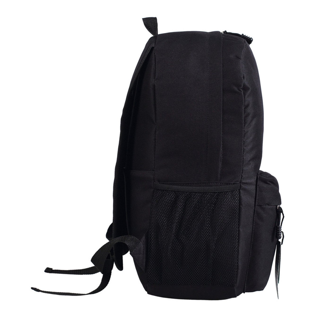JUSTGOGO Luminous Korean Casual Backpack Daypack Laptop Bag College Bag School Bag (Black) by JUSTGOGO (Image #2)