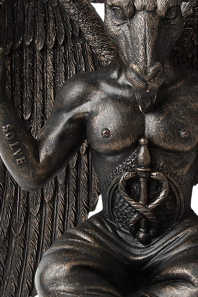 Original Nemesis Now Baphomet aus bronziertem Kunststein
