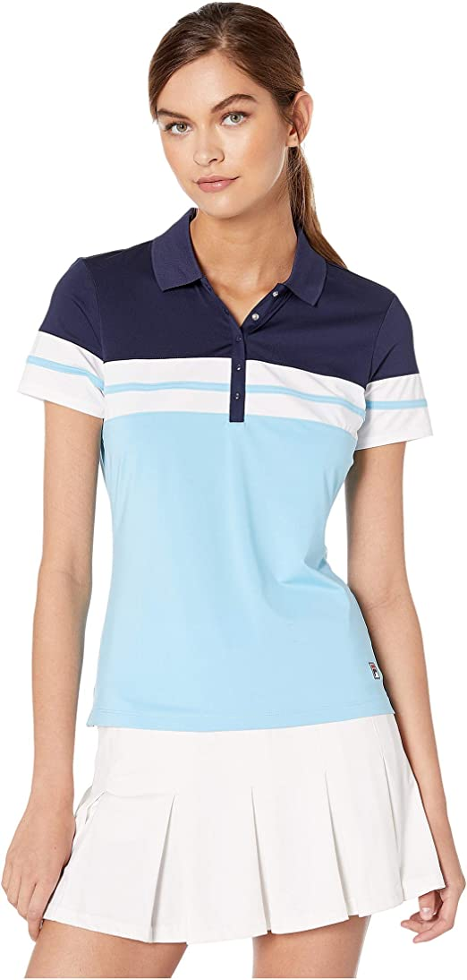 Fila Womens Heritage Tennis Polo Baltic Sea/Navy/White X-Large ...