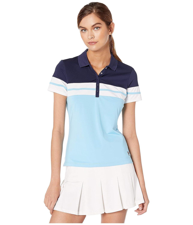 Fila Womens Heritage Tennis Polo Baltic Sea/Navy/White X-Large ...