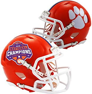 Sports Memorabilia Riddell Clemson Tigers College Football Playoff 2018  National Champions Logo Speed Replica Helmet - fbfae2b16