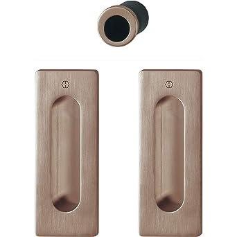 Hoppe - Juego de tiradores para puerta corredera (cuadrados, sin ...