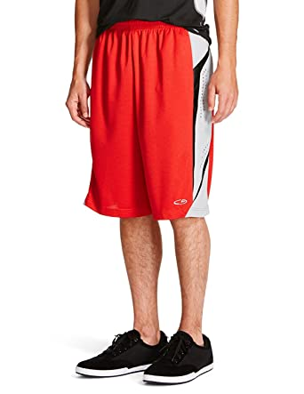 825276d4c74b C9 By Champion Men s Premium Duo Dry Perforated Basketball Shorts with  Pockets (Red Grey Black