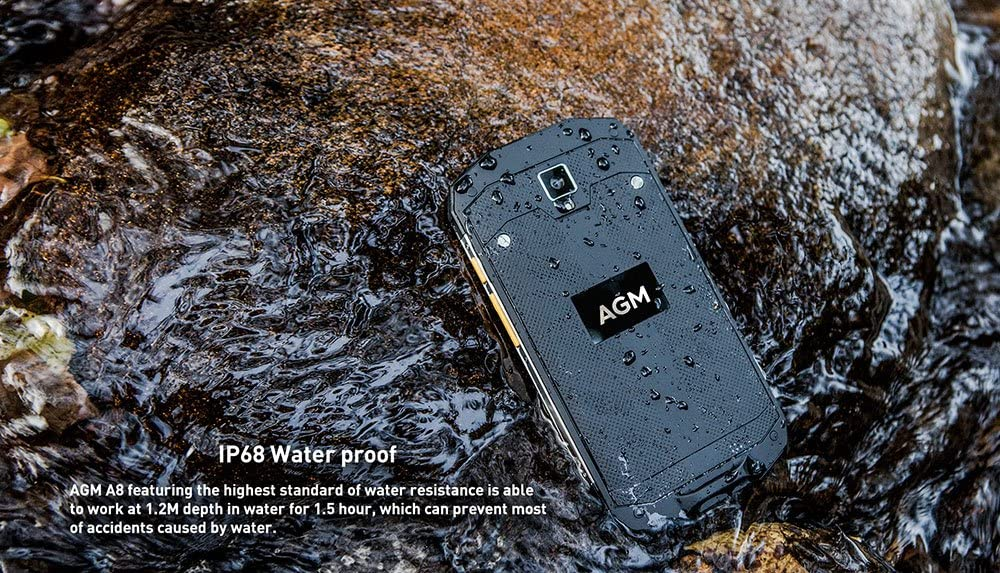 AGM A8 - Android 7.0 IP68 Impermeable al Aire Libre Smartphone 5.0 ...