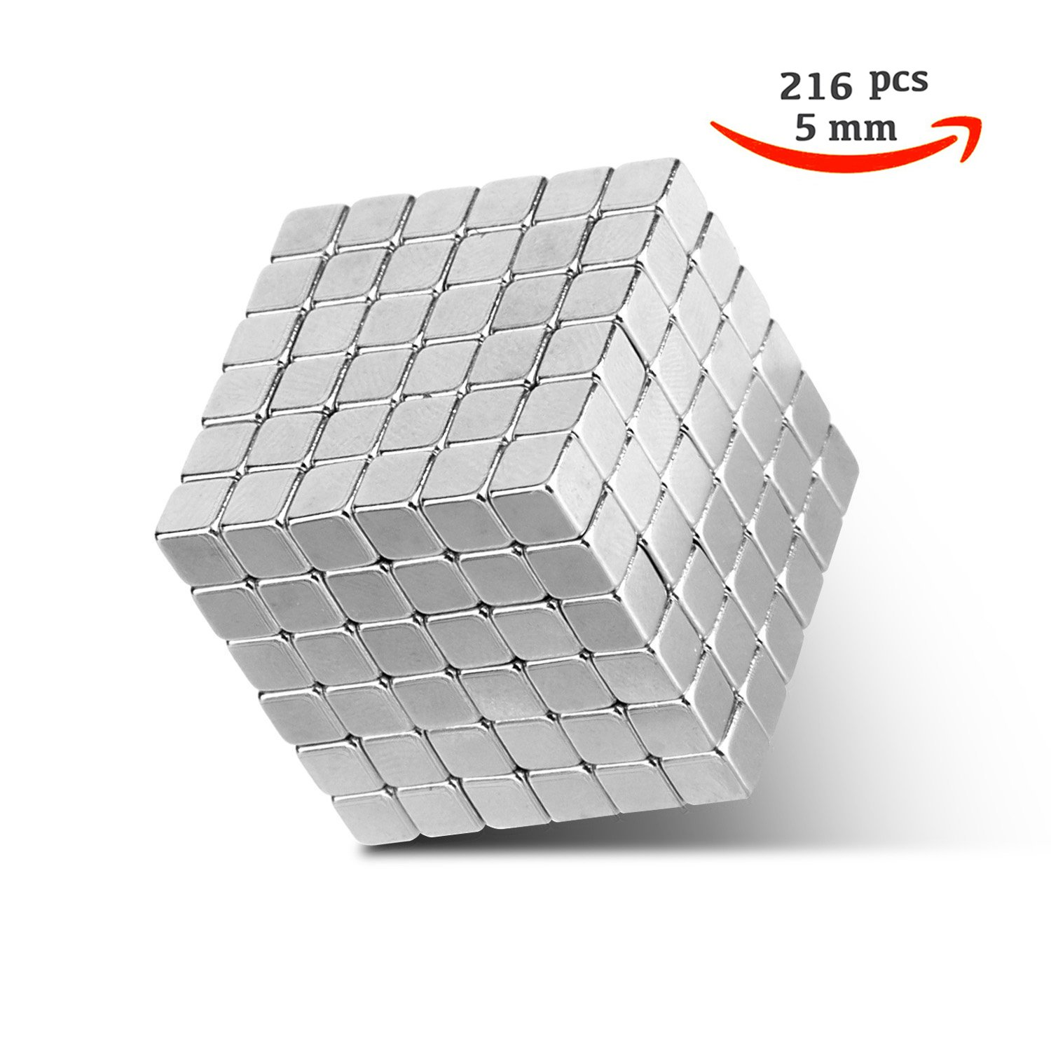 Magnetic Holders Multi-Use Square Cube Magnets Toy Puzzle Magnet Block Magic Cube Education Toys Metal (216 Pack)