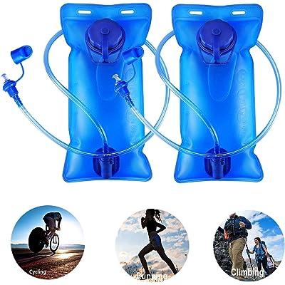 Qdreclod Bolsa de Hidratación 2L, Antibacteriano y a Prueba de Fugas Bolsa de Agua Plegable, Libre de BPA Sistema de Hidratación Portátil para Ciclismo, Senderismo, Caminata, Escalada, Carrera