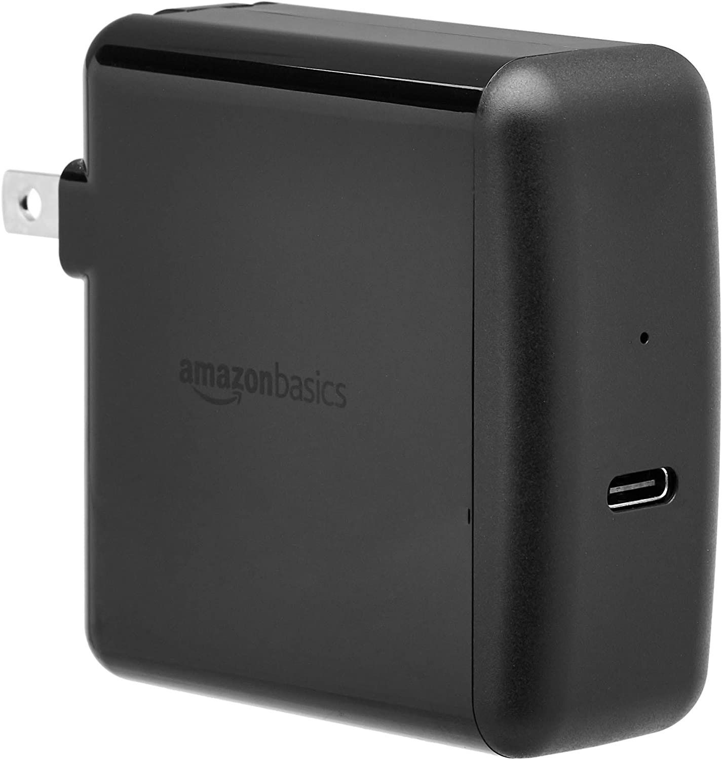 AmazonBasics 65W One-Port USB-C 3.0 Wall Charger for Laptops, Tablets and Phones - Black