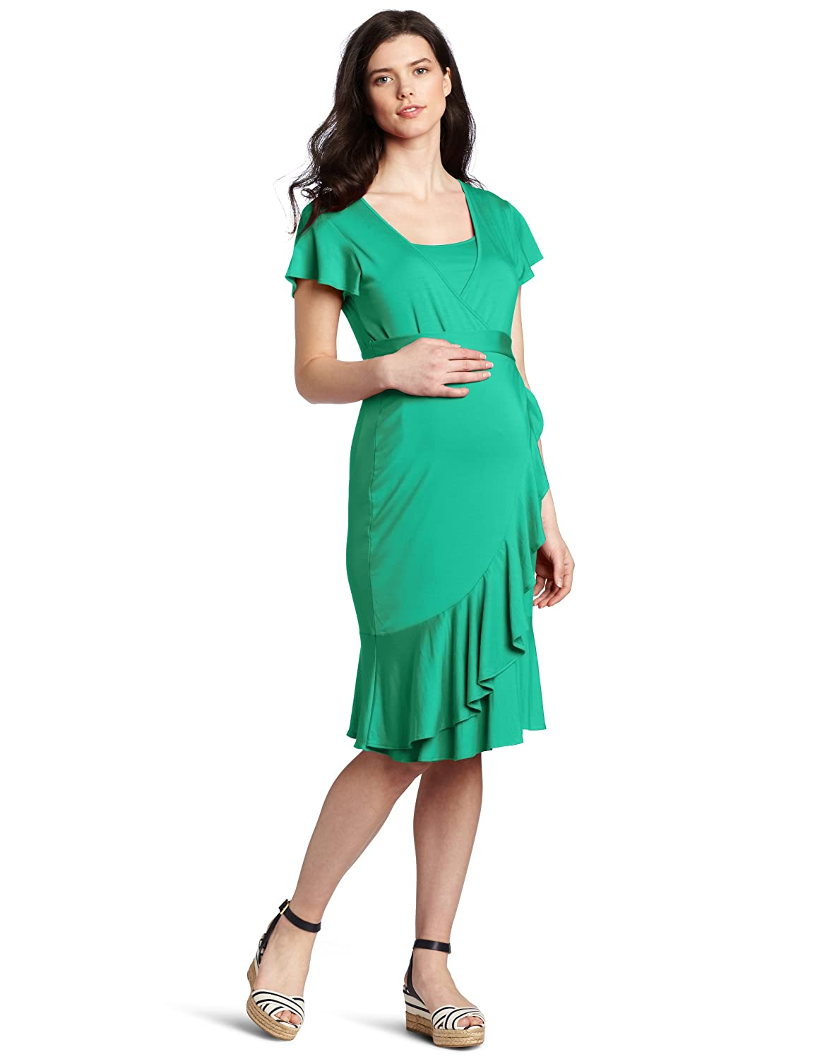 Ripe Maternity Women\'s Maternity Flounce Nursing Dress at Amazon ...