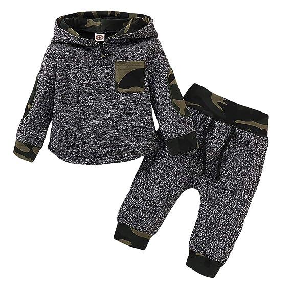 puseky Conjunto de sudadera con capucha para bebés bebés y niños ...