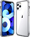 Mkeke Compatible with iPhone 12 Pro Case, iPhone 12 Max Case, Clear Case for iPhone 12 Pro/iPhone 12 Max 6.1 Inch