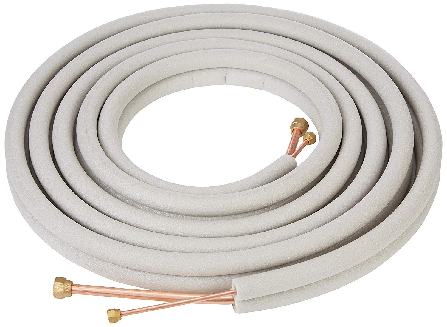 Senville 25 Ft. Copper Pipes for Mini Split Air Conditioner 1/4'' & 3/8'' White by Senville