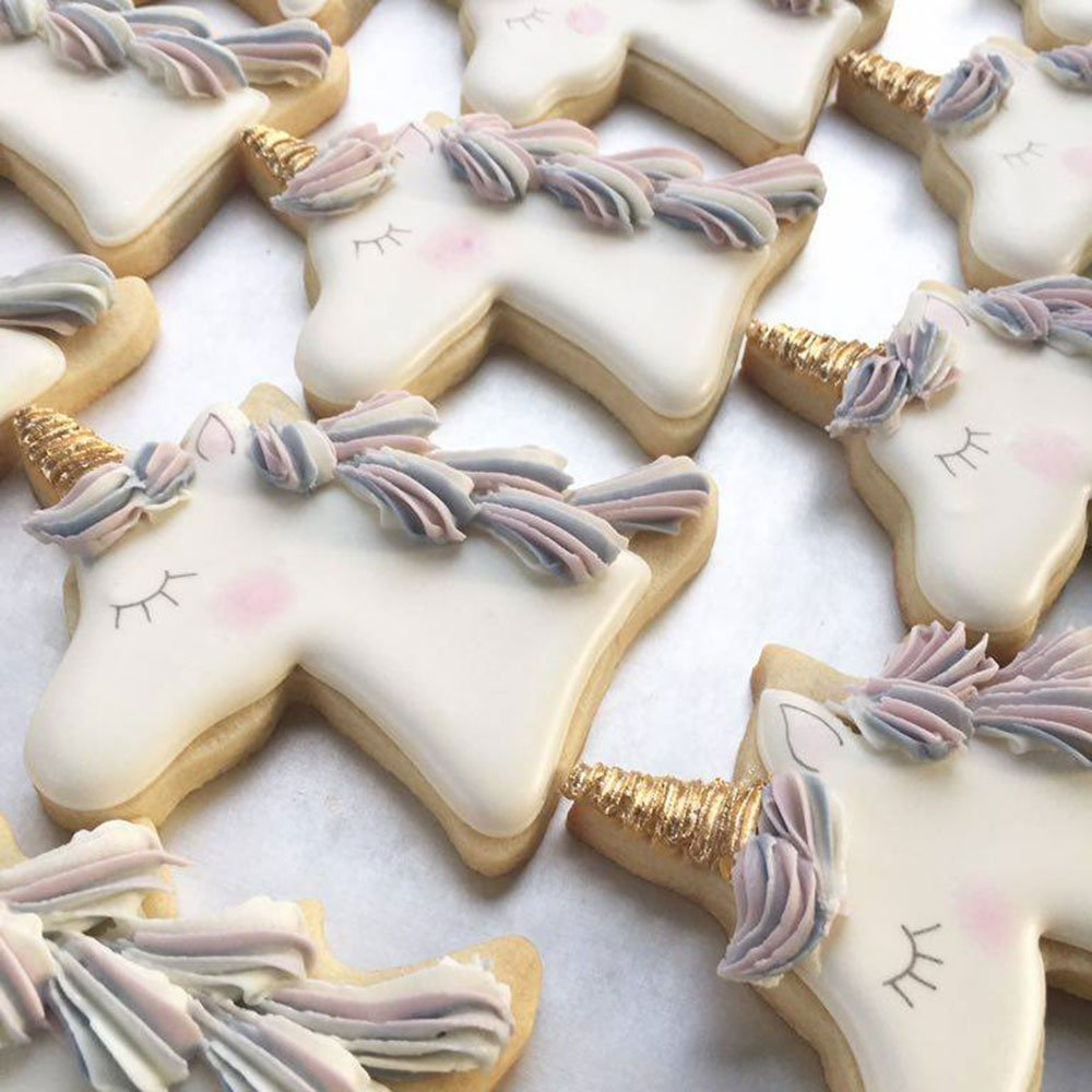 Fairytale Princess Cookie Cutters - 5 Piece Boxed Set - Crown, Dress, Rainbow, Unicorn, Unicorn Head - Ann Clark - US Tin Plated Steel by Ann Clark Cookie Cutters (Image #5)