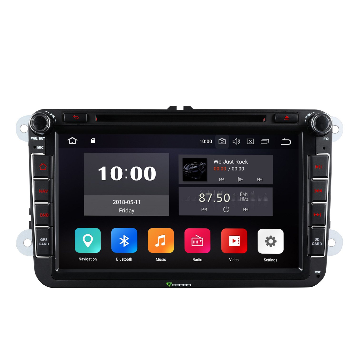 Android 8.0 Double Din Head Unit Car Stereo Radio,Eonon Carplicable to Volkswagen//SEAT//Skoda 4GB RAM+32GB ROM Octa-Core 8 Inch,Support Dual Bluetooth Fastboot-GA9153A