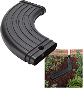 Wholesale Plumbing Supply No Dig Low Profile Downspout Adjustable Elbow Adapter Kit Gutter Extension, Black